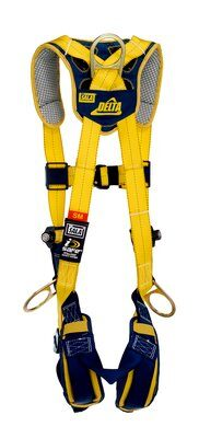 Delta™ Comfort Vest-Style Positioning Harness, QC/QC, 1100821 1100822 1100823 1100824, Back and side D-rings, quick connect buckle leg and chest straps, comfort padding, back