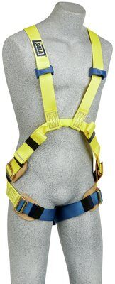 3M™ DBI-SALA® Delta™ rc Flash Harness, Dorsal/Front Web Loop, 1110750 1110751 1110752 1110754,, 7000 lb nylon web, no metal above the waist, front & back web loop, pass thru buckle legs, leather insulators, front