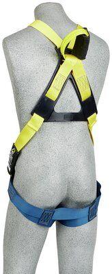 3M™ DBI-SALA® Delta™ rc Flash Harness, Dorsal/Front Web Loop, 1110750 1110751 1110752 1110754,, 7000 lb nylon web, no metal above the waist, front & back web loop, pass thru buckle legs, leather insulators, rear