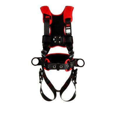 1161217 - Construction/Positioning Harness, Back & Side D-rings, Tongue Buckle, front