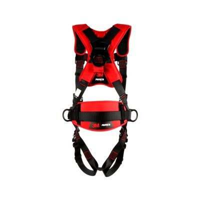 3M Protecta Comfort Construction Positioning Climbing Harness-Quick Connect Leg Quick Connect Chest, back