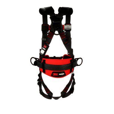 1161304-1161305-1161306-1161307 3M™ Protecta® Construction Positioning Harness-Pass-Thru Leg Pass-Thru Chest, back