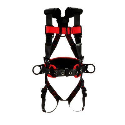 1161304-1161305-1161306-1161307 3M™ Protecta® Construction Positioning Harness-Pass-Thru Leg Pass-Thru Chest, front