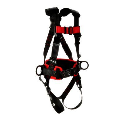 3M™ Protecta® Construction Style Positioning Harness 1161308-1161309-1161310-1161311, Black, front right