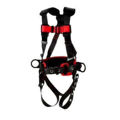 3M™ Protecta® Construction Style Positioning Harness 1161308-1161309-1161310-1161311, Black, front left