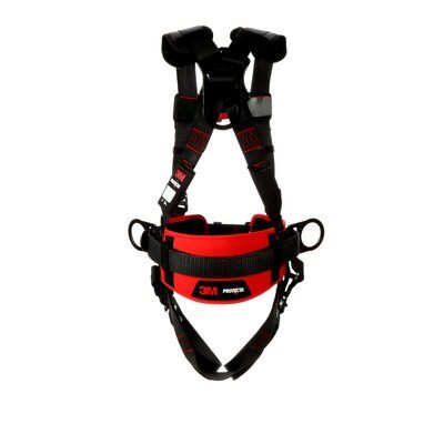 3M™ Protecta® Construction Style Positioning Harness 1161308-1161309-1161310-1161311, Black, back
