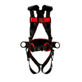 3M™ Protecta® Construction Style Positioning Harness 1161308-1161309-1161310-1161311, Black, front