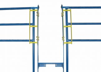 PS DOORS, GrabSafe® Horizonal Grab Bars for the LSG Ladder Safety Gate