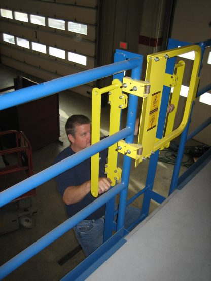PS DOORS, GrabSafe® Horizonal Grab Bars for the LSG Ladder Safety Gate, in use 8