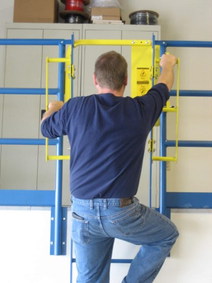 PS DOORS, GrabSafe® Horizonal Grab Bars for the LSG Ladder Safety Gate, in use 5