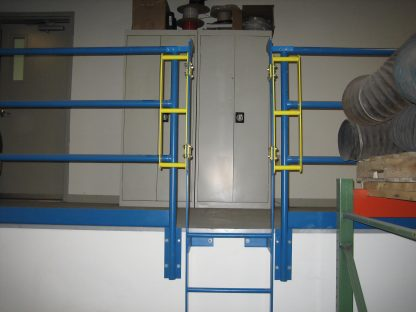 PS DOORS, GrabSafe® Horizonal Grab Bars for the LSG Ladder Safety Gate, in use 2