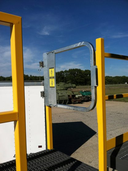 PS DOORS LADDER SAFETY FATE LADDER FALL PRTOECTION IN USE ON MILITARY BASES