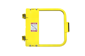 PS Doors LSG-PCY-* ladder safety gate, universal swing direction.