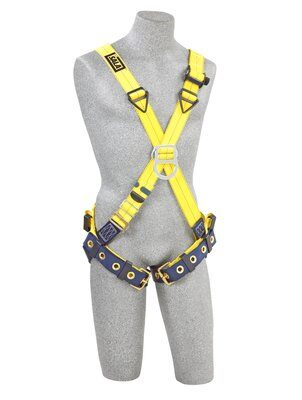 Delta™ Cross-Over Style Climbing Harness, TB/PT, 1102950 1102952, Front & back D-ring, tongue buckle leg straps, front 2