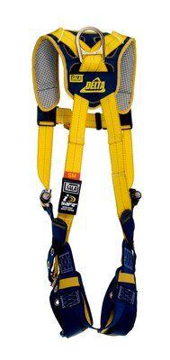 Delta™ Comfort Vest-Style Harness, TB/PT, 1100745 1100746 1100747 1100748, Back D-ring, tongue buckle leg straps, comfort padding, rear