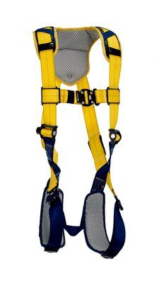 Delta™ Comfort Vest-Style Harness, QC/QC, 1100935 1100936 1100937 1100938, Back D-ring, quick connect buckle leg and chest straps, comfort padding, front