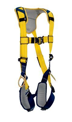 Delta™ Comfort Vest-Style Positioning Harness, QC/QC, 1100821 1100822 1100823 1100824, Back and side D-rings, quick connect buckle leg and chest straps, comfort padding, front