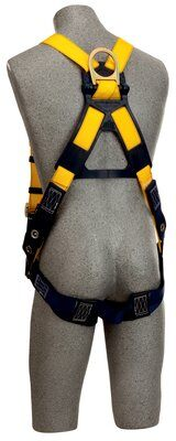 Delta™ Construction Style Harness, TB/PT, 1102526 1102529, Back D-ring, tongue buckle legs straps, loops for belt, rear