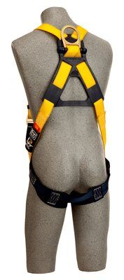 1103513, DBI-SALA® Delta™ Construction Style Harness, Loops, Back D-ring, pass thru buckle legs, loops for belt (Size Universal) rear