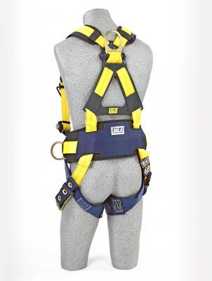 Delta™ Construction Style Positioning Harness, TB/PT, 1101654 1101655 1101656, rear