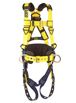 Delta™ Construction Style Positioning Harness, TB/PT, 1101654 1101655 1101656, front