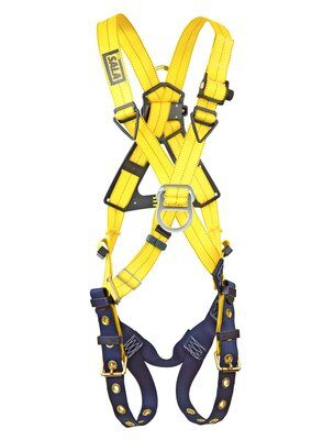 Delta™ Cross-Over Style Climbing Harness, TB/PT, 1102950 1102952, Front & back D-ring, tongue buckle leg straps, front