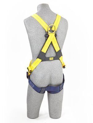 Delta™ Cross-Over Style Climbing Harness, TB/PT, 1102950 1102952, Front & back D-ring, tongue buckle leg straps, rear 2