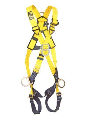 1103270- Delta™ Cross-Over Style Positioning/Climbing Harness, TB, Front, back & side D-rings, pass thru buckle leg straps (Size Universal), front