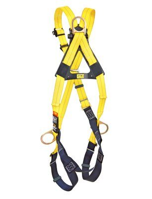 1103270- Delta™ Cross-Over Style Positioning/Climbing Harness, TB, Front, back & side D-rings, pass thru buckle leg straps (Size Universal), back