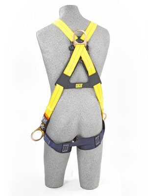 1103270- Delta™ Cross-Over Style Positioning/Climbing Harness, TB, Front, back & side D-rings, pass thru buckle leg straps (Size Universal), back 2