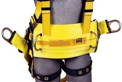 "Delta™ Derrick Harness, Seat Sling TB/PT, 1106106 1106107 1106108 1106112, Derrick Harness, 18"" dorsal D-ring extension, belt & hip pad with back D-ring, seat sling, tongue buckle legs, pass-thru connection to 1000570 derrick belt, belt"