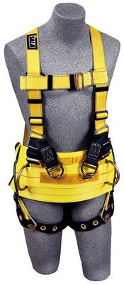 Delta™ Derrick Harness, TB/PT, Derrick style, back, side D-rings, tongue buckle legs, use with 1000544 derrick belt, front