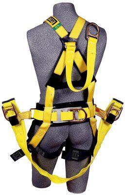 "Delta™ Derrick Harness, Seat Sling TB/PT, 1106106 1106107 1106108 1106112, Derrick Harness, 18"" dorsal D-ring extension, belt & hip pad with back D-ring, seat sling, tongue buckle legs, pass-thru connection to 1000570 derrick belt, rear"