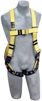 Delta™ Vest-Style Resist Web Harness, TB/PT, Resist Technology webbing, vest style, back D-ring, tongue buckle legs, 1110990, front