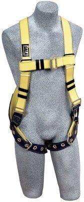 Delta™ Vest-Style Resist Web Harness, TB/PT, Resist Technology webbing, vest style, back D-ring, tongue buckle legs, 1110990, front