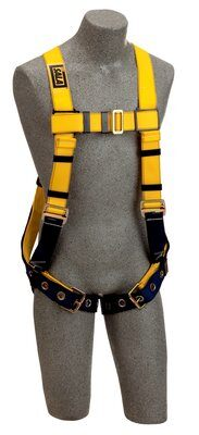 Delta™ Construction Style Harness, TB/PT, 1102526 1102529, Back D-ring, tongue buckle legs straps, loops for belt, front