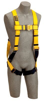 1103513, DBI-SALA® Delta™ Construction Style Harness, Loops, Back D-ring, pass thru buckle legs, loops for belt (Size Universal) front
