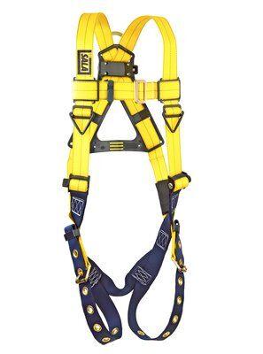 Delta™ Comfort Vest-Style Harness, TB/PT, 1101251 1101252, Back D-ring, tongue buckle leg straps, front 2