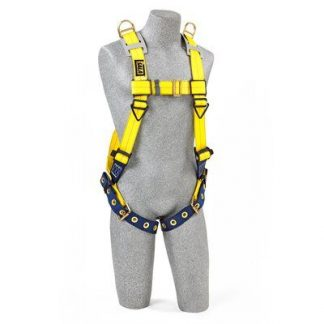 Delta™ Vest-Style Retrieval Harness , TB/PT, 1101254 1101257, Back D-ring, shoulder retrieval D-rings, tongue buckle leg straps, front