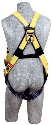 Delta™ Vest-Style Resist Web Harness, TB/PT, Resist Technology webbing, vest style, back D-ring, tongue buckle legs, 1110990, rear