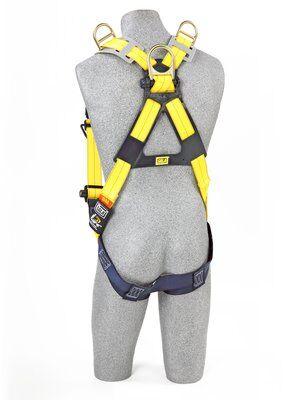 Delta™ Vest-Style Retrieval Harness, TB/PT, 1101781 1101794, Back & shoulder D-rings, pass thru buckle leg straps, rear