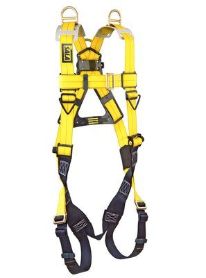 Delta™ Vest-Style Retrieval Harness, TB/PT, 1101781 1101794, Back & shoulder D-rings, pass thru buckle leg straps, front