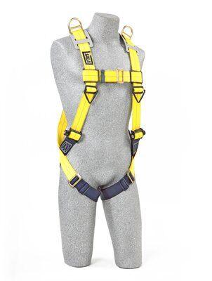 Delta™ Vest-Style Retrieval Harness, TB/PT, 1101781 1101794, Back & shoulder D-rings, pass thru buckle leg straps, front 2