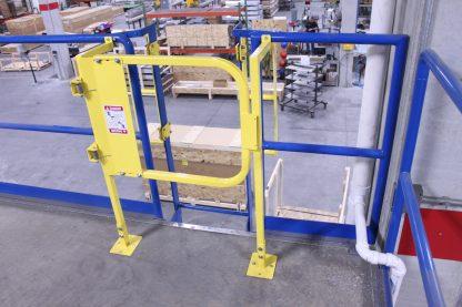 Ladder safety gate standoff system