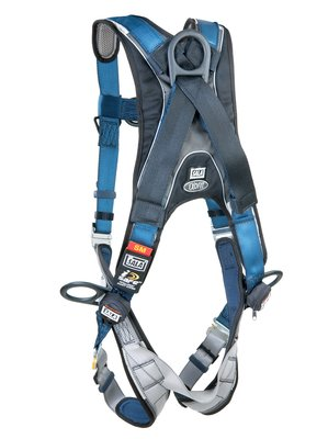 ExoFit™ Wind Energy Harness, PVC-coated, QC/QC, Quick connect buckle legs, coated front, back & side D-rings, 1102340 1102341 1102342 1102343, rear