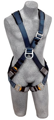 DBI-SALA® ExoFit™ Cross-Over Style Climbing Harness, Front & back D-ring, loops for belt, quick-connect buckles, 1108675 1108676 1108677 1108682, front