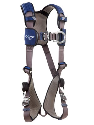 ExoFit NEX™ Vest-Style Climbing Harness, QC/QC, Aluminum front & back D-rings, locking quick connect buckles, 1113031 1113034 1113037 1113040, front