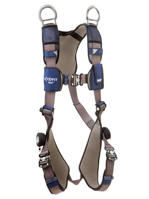 3M™ DBI-SALA® ExoFit NEX™ Vest-Style Retrieval Harness, Aluminum back & shoulder D-rings, locking quick connect buckles, 1113061 1113064 1113067 1113070, front 2
