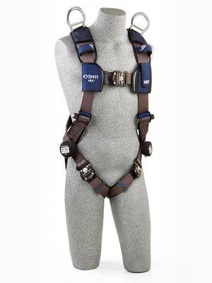 3M™ DBI-SALA® ExoFit NEX™ Vest-Style Retrieval Harness, Aluminum back & shoulder D-rings, locking quick connect buckles, 1113061 1113064 1113067 1113070, front 3