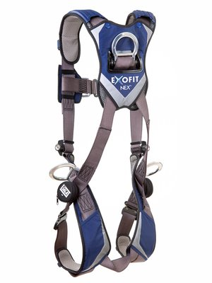 3M™ DBI-SALA® ExoFit NEX™ Vest-Style Positioning/Climbing Harness, Aluminum front, back & side D-rings, locking quick connect buckles, 1113076 1113079 1113082 1113085, rear 2